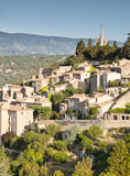 Bonnieux. Sunrise over the hill top village of Bonnieux in Provence Stock Image