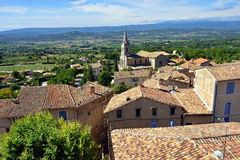 Bonnieux. Beautiful Medieval Village of Bonnieux and rural landscape, Provence, France Stock Image