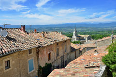 Bonnieux. Beautiful Medieval Village of Bonnieux and rural landscape, Provence, France Stock Images