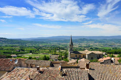 Bonnieux. Beautiful Medieval Village of Bonnieux and rural landscape, Provence, France Royalty Free Stock Photography