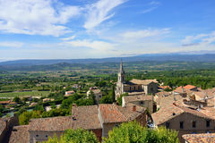 Bonnieux. Beautiful Medieval Village of Bonnieux and rural landscape, Provence, France Stock Photos