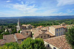 Bonnieux. Beautiful Medieval Village of Bonnieux and rural landscape, Provence, France Royalty Free Stock Photo