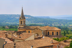 Bonnieux charming old small village and church the Provence regi Stock Image