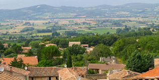 Bonnieux charming old small village and church the Provence regi Royalty Free Stock Photography
