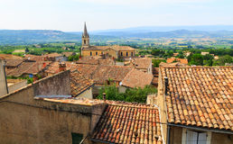 Bonnieux charming old small village and church the Provence regi Stock Photos