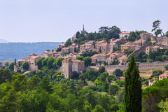 Bonnieux charming old small village and church the Provence regi Royalty Free Stock Images