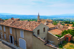 Bonnieux charming old small village and church the Provence regi Stock Photo