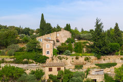 Bonnieux charming old small village and church the Provence regi Royalty Free Stock Photos