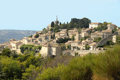 Bonnieux in France. The beautiful village of Bonnieux in the Vaucluse France Stock Photography