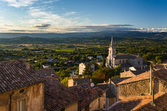 Bonnieux, France. Bonnieux is one of the many historic hill villages in the Provence-Alpes-Côte d'Azur region. It rests on top of the Luberon hills casting a Royalty Free Stock Photography