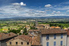Bonnieux in the Luberon. The hill top village of Bonnieux in the Luberon in Provence Stock Images