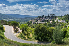 Bonnieux in the Luberon. The hill top village of Bonnieux in the Luberon in Provence Royalty Free Stock Image