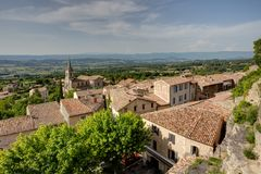 Bonnieux - Luberon - Provence - France. View of Bonnieux - Luberon - Vaucluse - Provence - France Royalty Free Stock Images