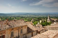Bonnieux - Luberon - Provence - France. View of Bonnieux - Luberon - Vaucluse - Provence - France Royalty Free Stock Image