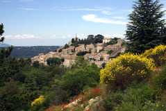 Bonnieux in the Provence. Village Bonnieux situated on a hill in the Provence, France Stock Images