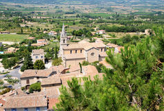 Bonnieux town. View on rooftops and Luberon valley in Bonnieux, Provence region in France Stock Images