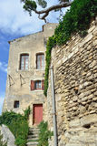 Bonnieux. Typical medieval architecture in small beautiful village Bonnieux in Provence, France Stock Photography