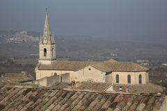 Bonnieux Village Church; Provence. France Stock Photo