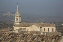 Bonnieux Village Church; Provence Stock Photo