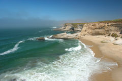 Bonny Doon. Beach near Santa Cruz, CA Stock Images
