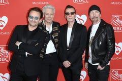 Bono, Adam Clayton, младший Ларри Mullen, край Стоковая Фотография
