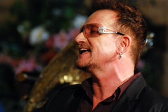 Bono. At The Arch Bishop Emeritus Desmond Tutu's official book launch 2011 Royalty Free Stock Photography