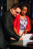 Bono. At The Arch Bishop Emeritus Desmond Tutu's official book launch 2011 Stock Images