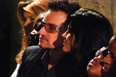 Bono. At The Arch Bishop Emeritus Desmond Tutu's official book launch 2011 Stock Photography