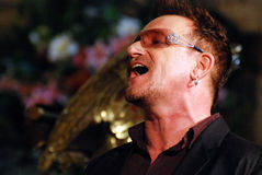 Bono. At The Arch Bishop Emeritus Desmond Tutu's official book launch 2011 Royalty Free Stock Image