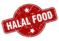 Bono de racionamiento Halal stock de ilustración
