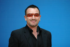 Bono. MAY 14, 2007 - BERLIN: Bono (aka: Paul David Hewson), singer of the band U2 in the Willy Brandt House of the SPD, Berlin royalty free stock images