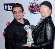 Bono och The Edge Arkivfoton