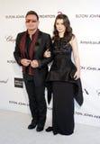 Bono och Eve Hewson Arkivbild