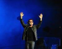 Bono som är live i Turin 2010 Arkivfoton