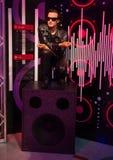 Bono. Wax statue of Bono lead singer of the rock band U2 Madame Tussauds museum, Las Vegas royalty free stock photo