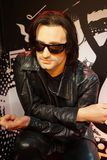 Bono. 30.12.2017 wax statuette Bono, by his own name Paul David Hewson, is a singer of the Irish group U2 in the wax statue museum in the Czech Republic in the royalty free stock photos