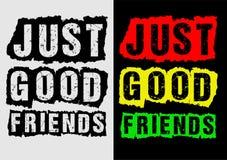 Bons amis de typographie juste, vecteur Illustration Libre de Droits