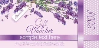 Bons de cadeau de fleur Illustration de Vecteur