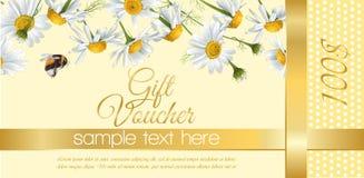 Bons de cadeau de fleur Images libres de droits