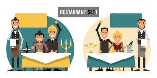 Bons e serviços maus no restaurante Imagem de Stock Royalty Free