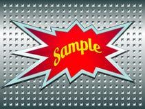 Bons etiket op het metaalnet Stock Afbeeldingen