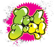Bons grafittis da sensação Foto de Stock Royalty Free