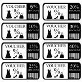 Bons réglés pour des vêtements et des accessoires de femmes Image stock