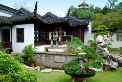 bonsai chińczyka ogród Singapore fotografia royalty free