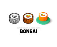 Bonsai icon in different style Royalty Free Stock Photography