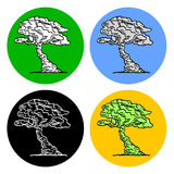 Bonsai icons Stock Photos