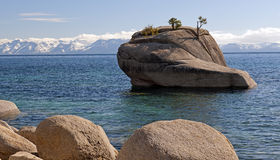 Bonsai Rock At Lake Tahoe Stock Photos