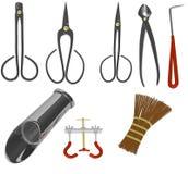 Bonsai tools set Stock Image