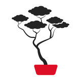 Bonsai tree japanese ornament icon Stock Image