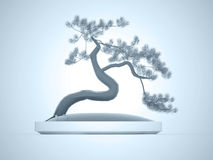 Bonsai tree rendered Stock Photography